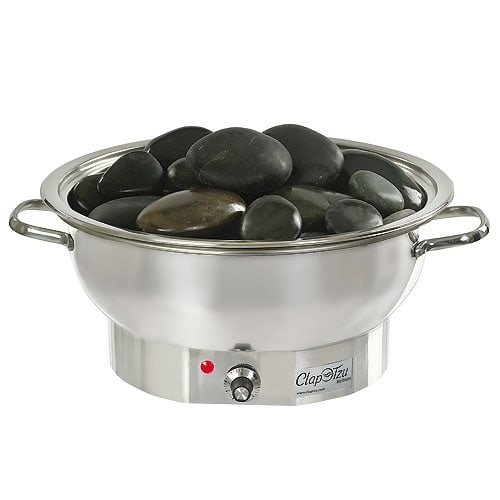 Hot Stones im Wärmegerät