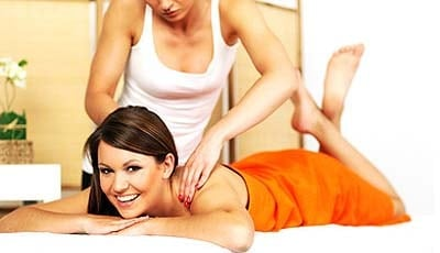 Massage mit Massageöl